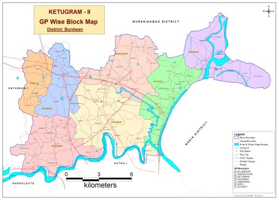 GPwise map of Ketugram II Development Block